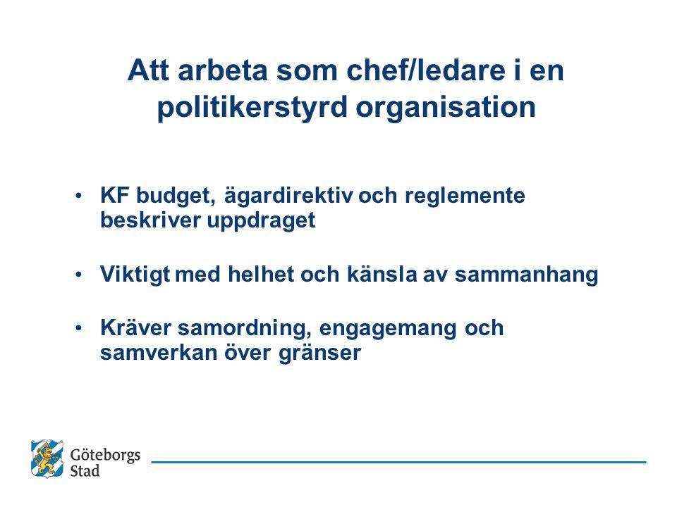 Att arbeta som chef/ledare i en politikerstyrd organisation