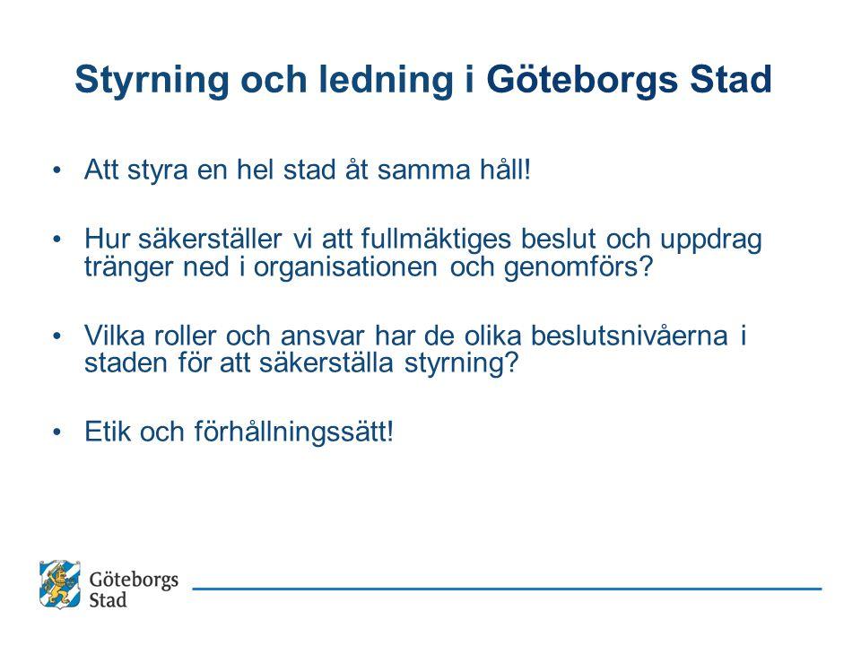 Styrning och ledning i Göteborgs Stad