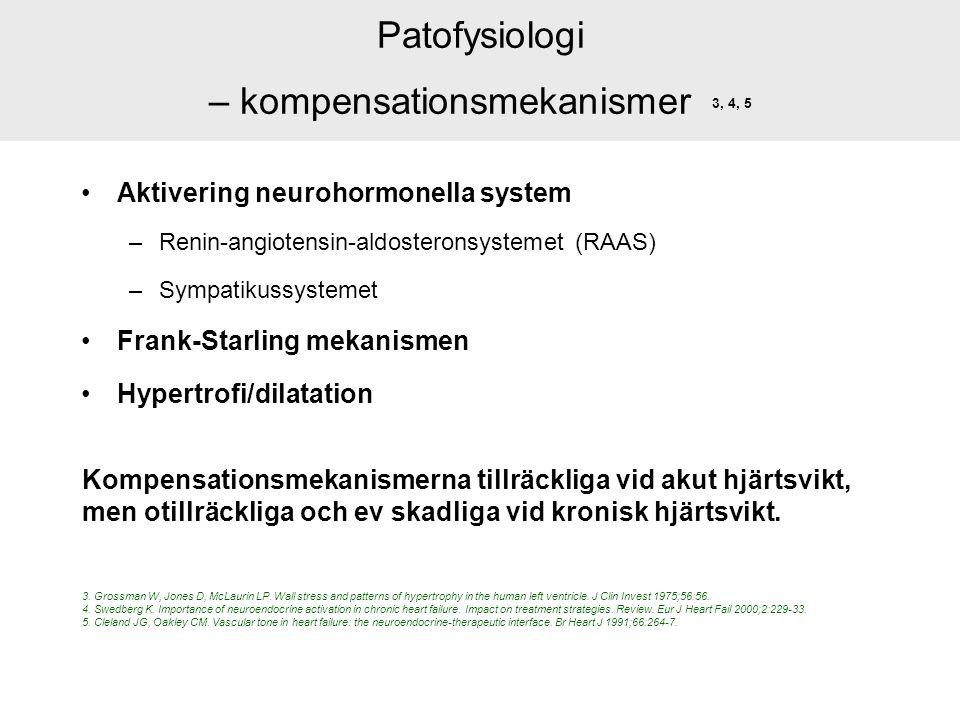 Patofysiologi – kompensationsmekanismer 3, 4, 5