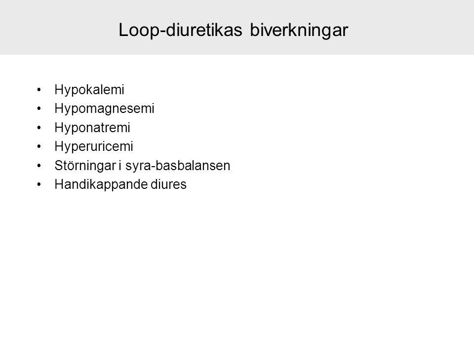 Loop-diuretikas biverkningar