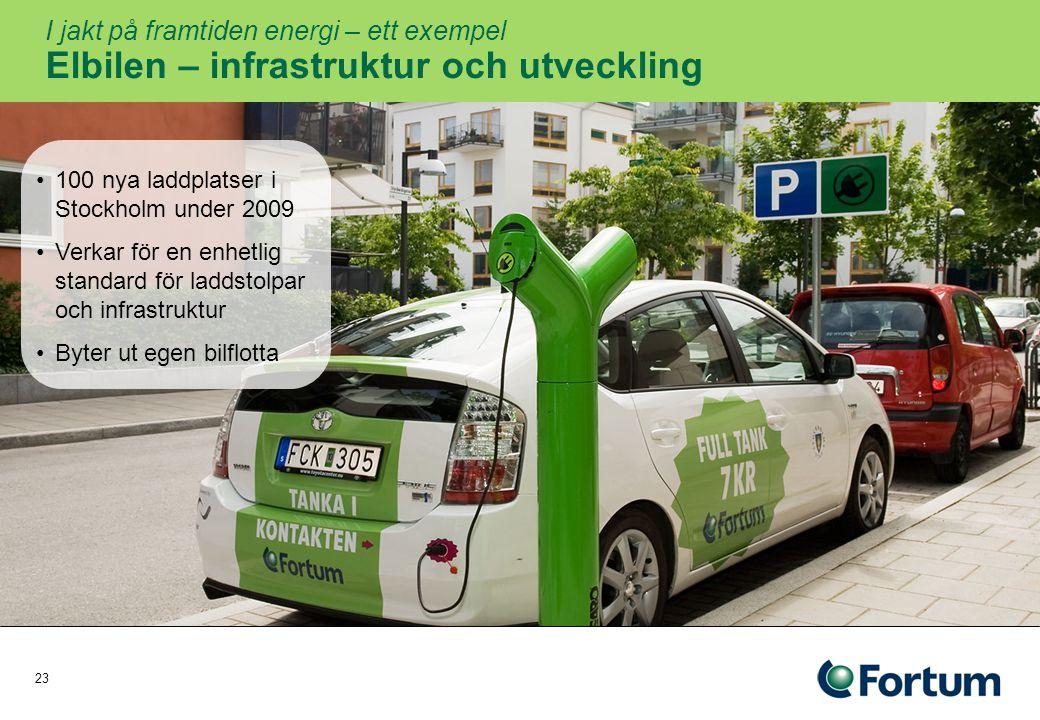 I jakt på framtiden energi – ett exempel Elbilen – infrastruktur och utveckling