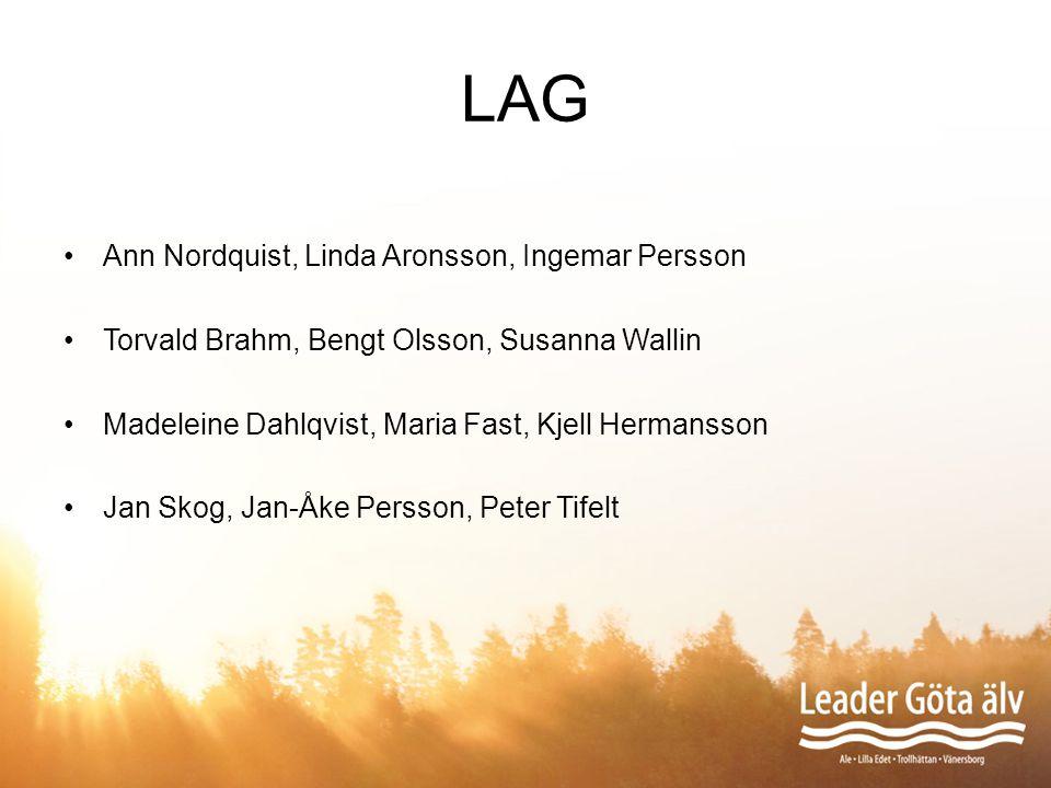 LAG Ann Nordquist, Linda Aronsson, Ingemar Persson