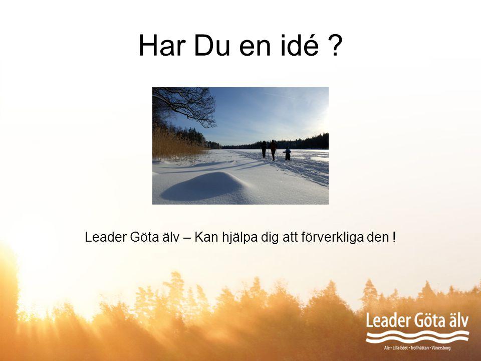 Leader Göta älv – Kan hjälpa dig att förverkliga den !