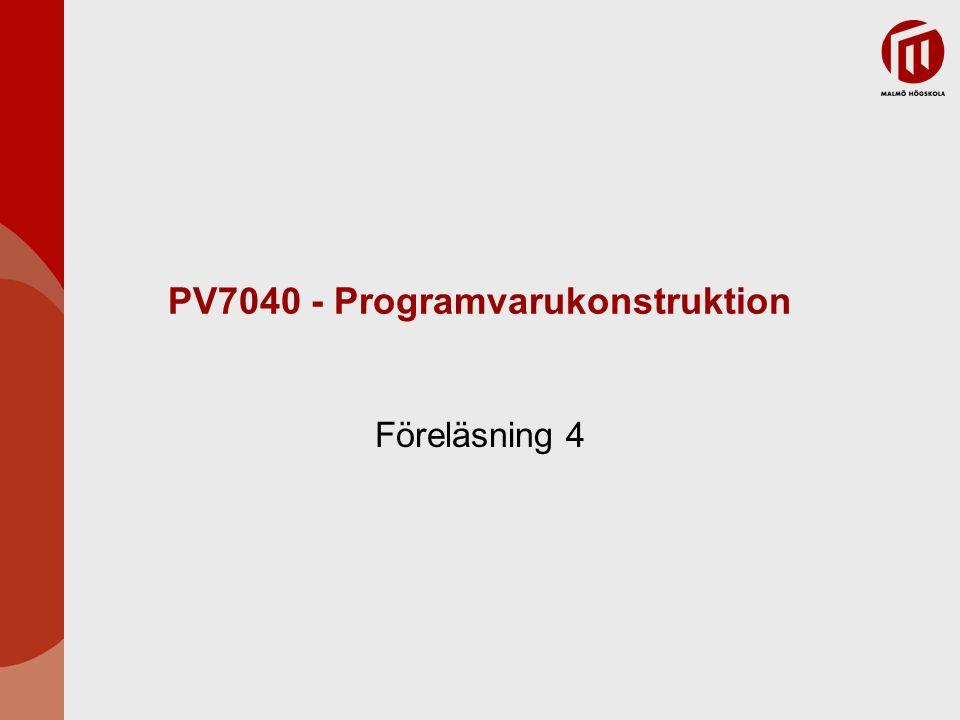PV7040 - Programvarukonstruktion