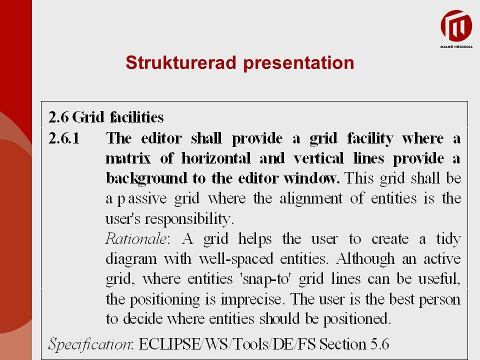 Strukturerad presentation
