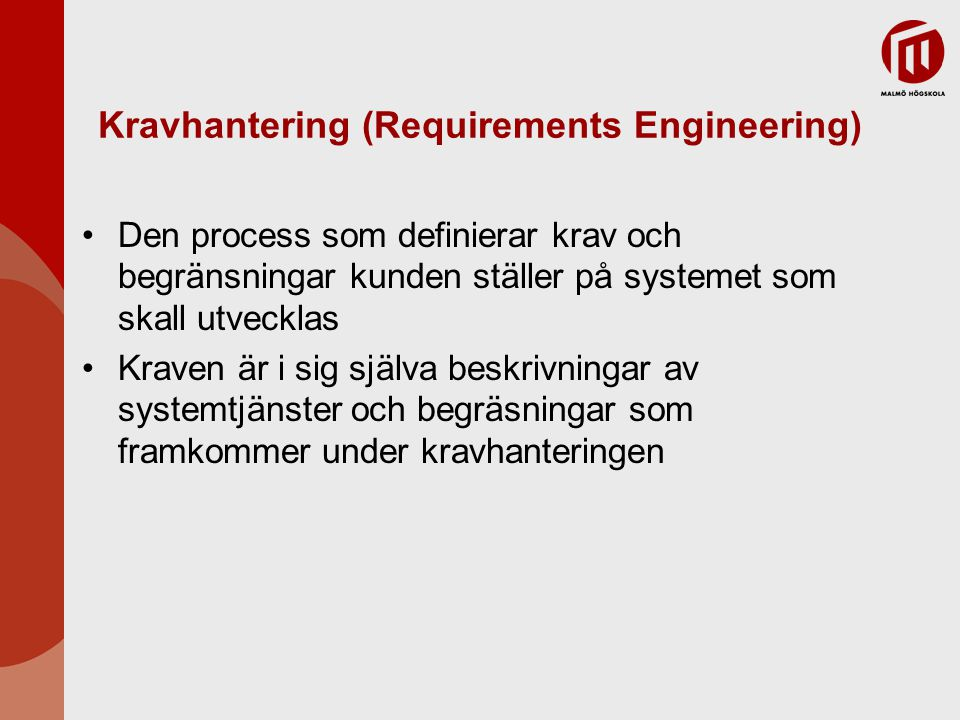 Kravhantering (Requirements Engineering)