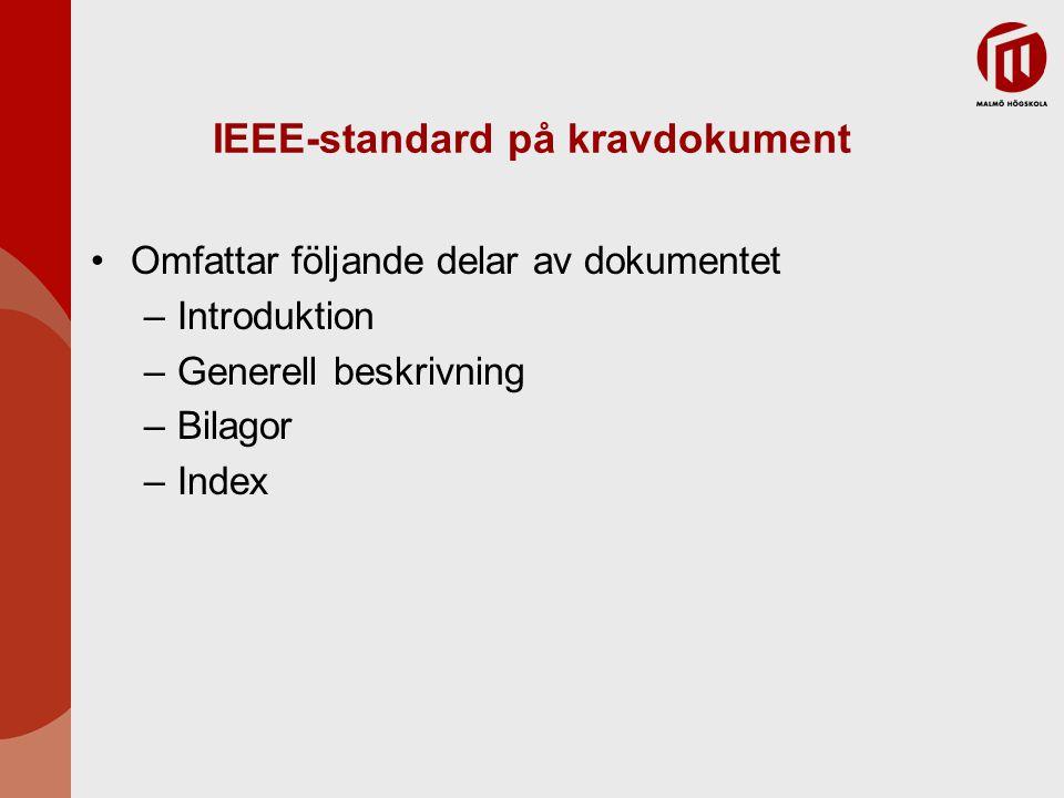 IEEE-standard på kravdokument
