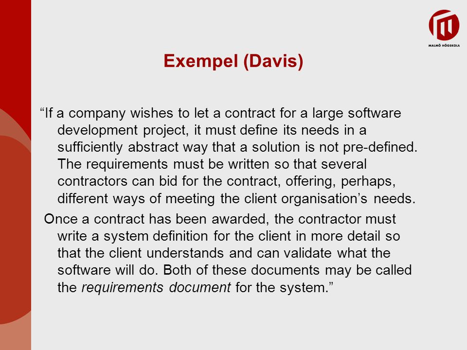 Exempel (Davis)