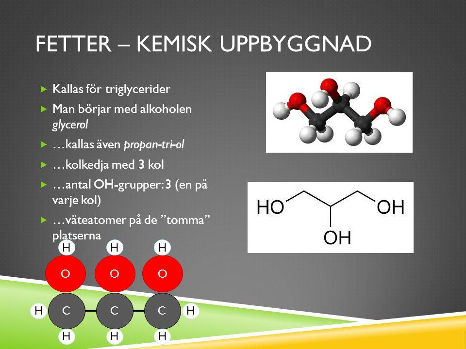 Fetter – kemisk uppbyggnad