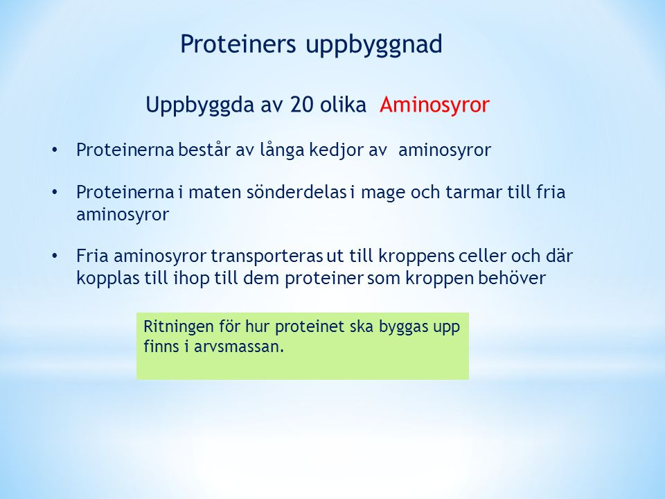 Proteiners uppbyggnad