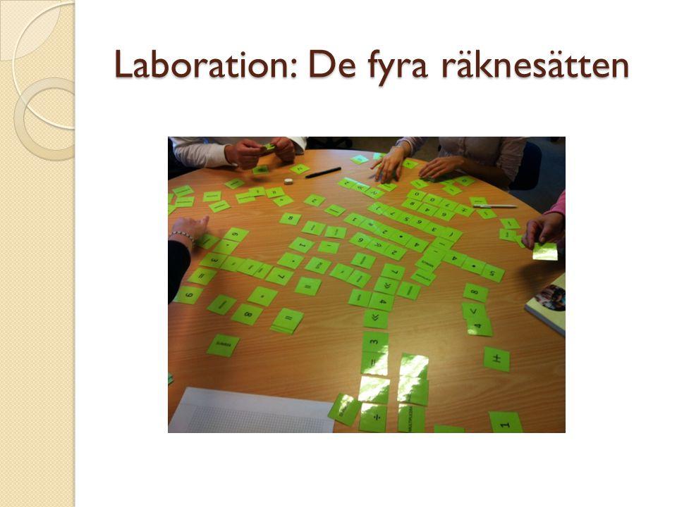 Laboration: De fyra räknesätten