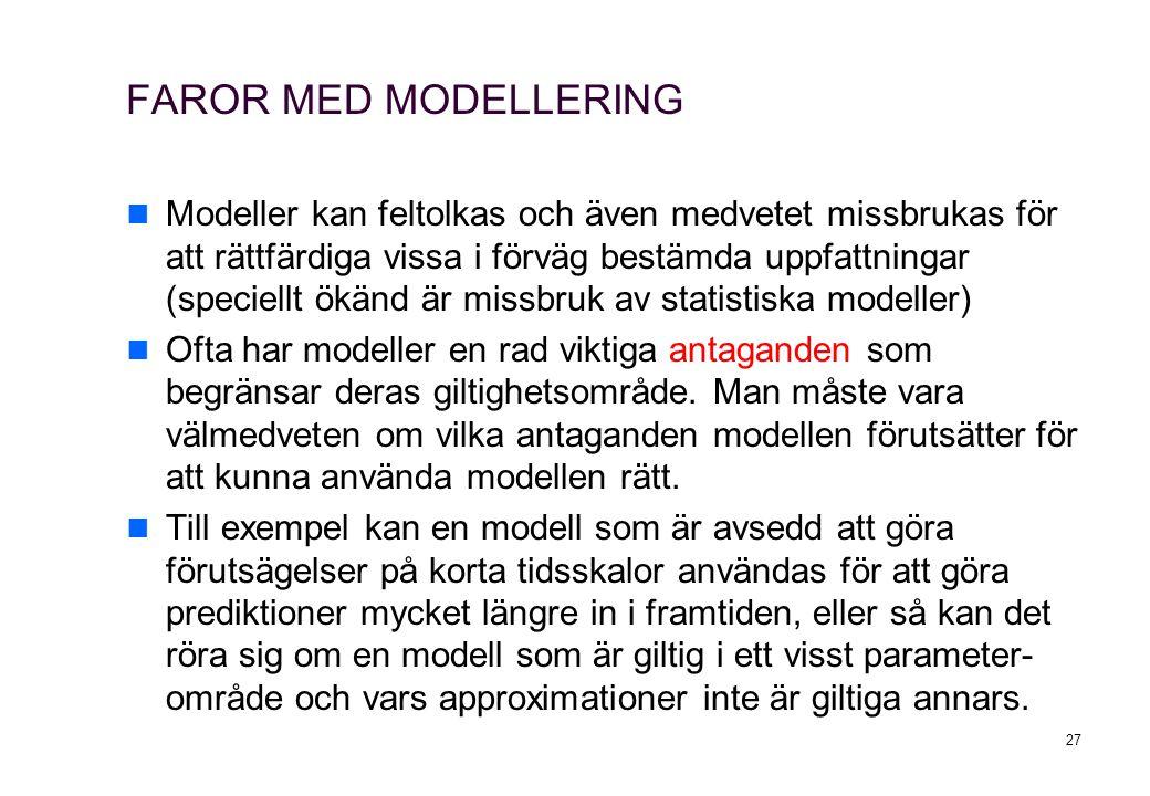 FAROR MED MODELLERING
