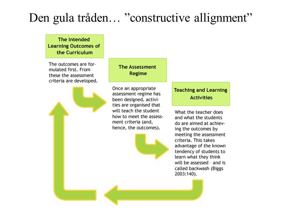 Den gula tråden… constructive allignment