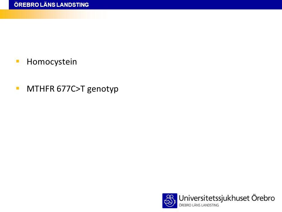 Homocystein MTHFR 677C>T genotyp