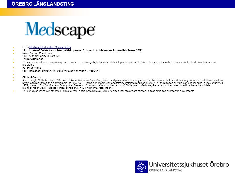 From Medscape Education Clinical Briefs
