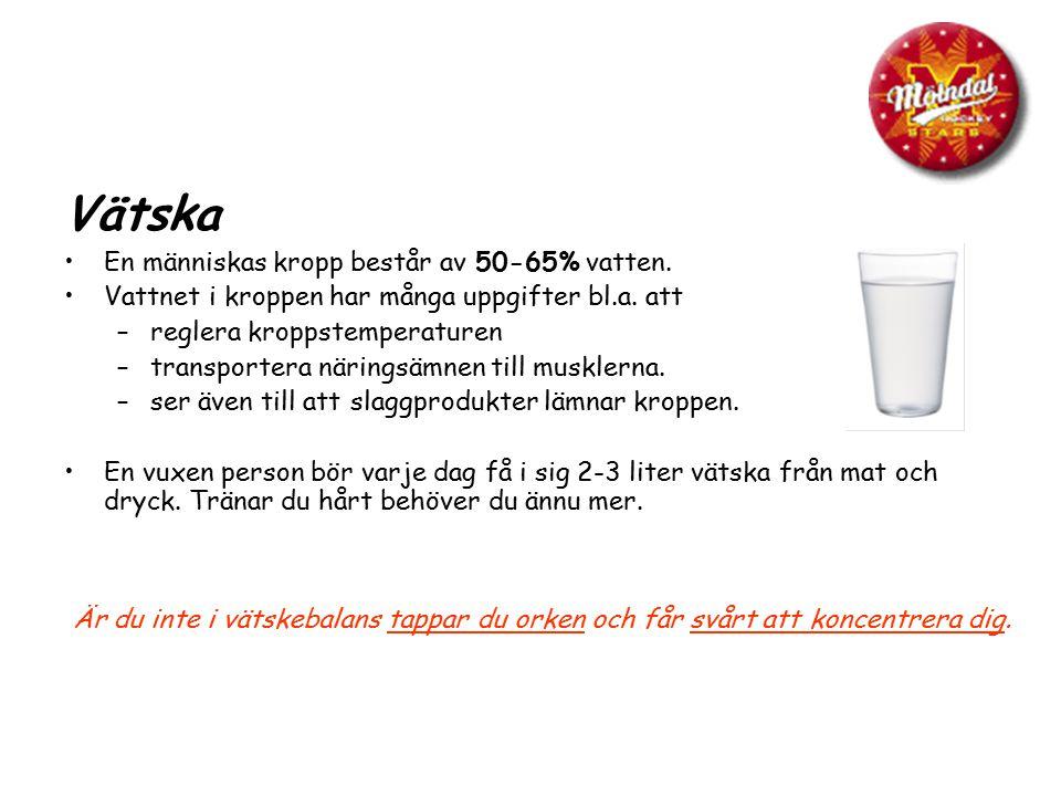 Vätska En människas kropp består av 50-65% vatten.