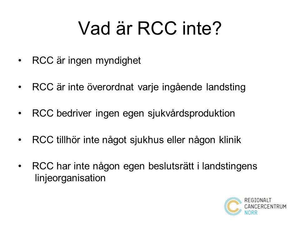 Vad är RCC inte RCC är ingen myndighet