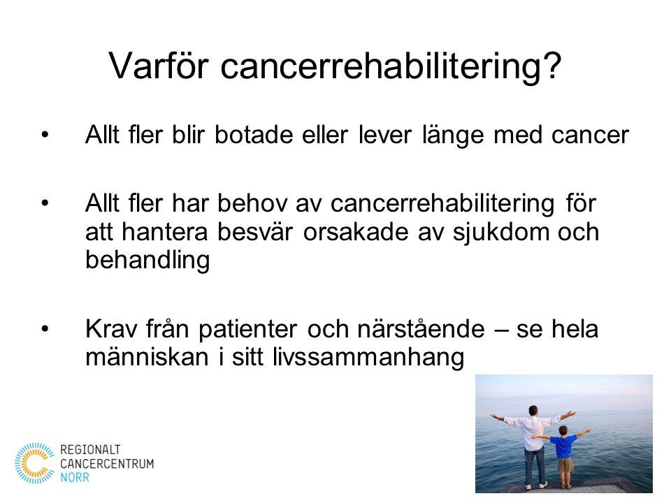 Varför cancerrehabilitering