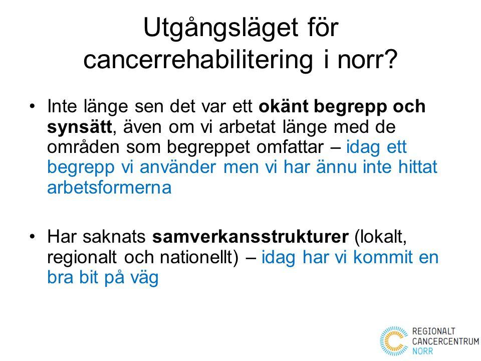 Utgångsläget för cancerrehabilitering i norr