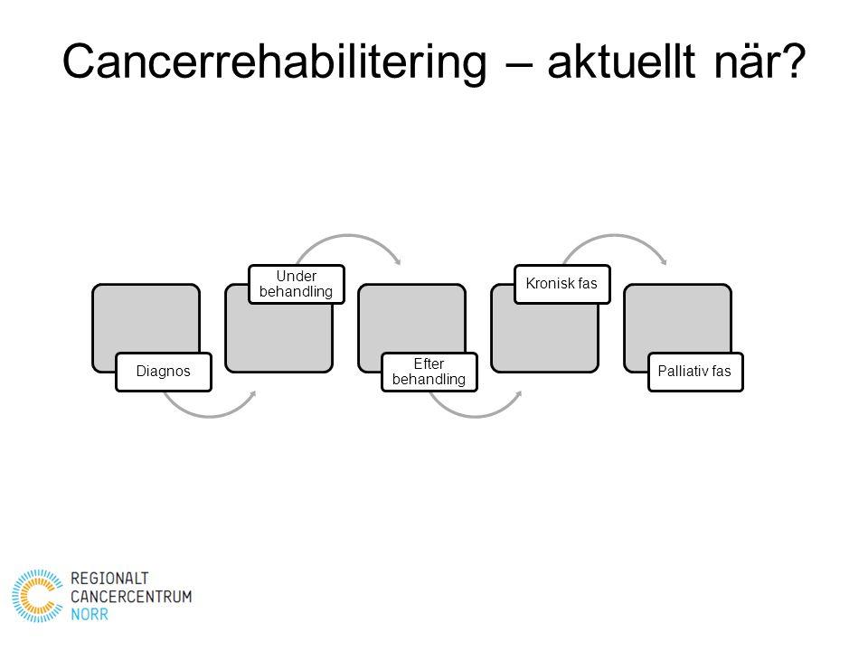 Cancerrehabilitering – aktuellt när