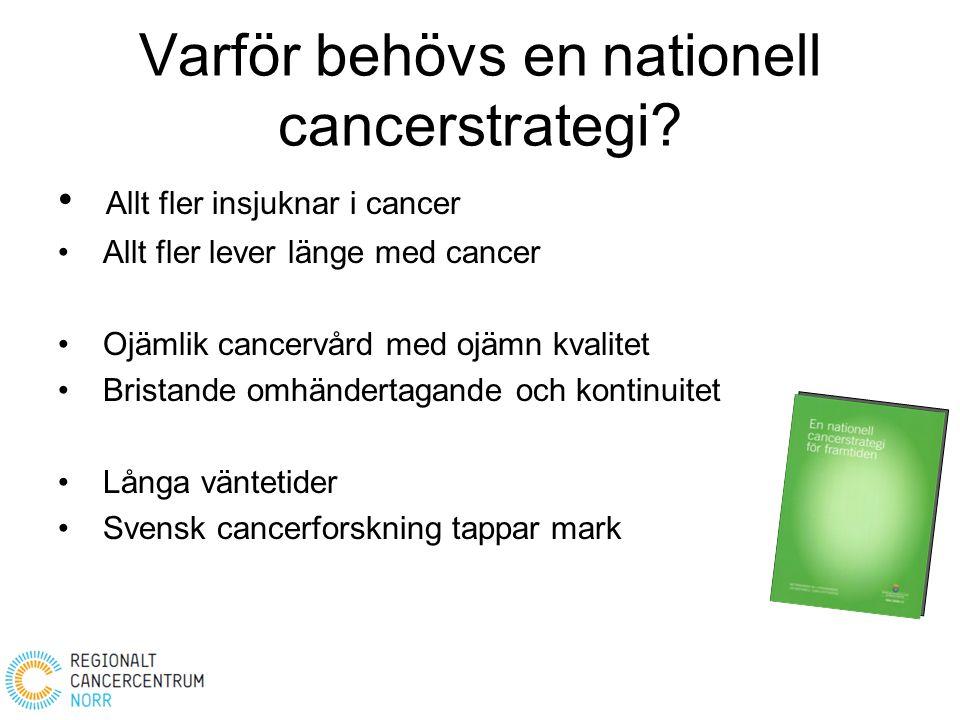 Varför behövs en nationell cancerstrategi