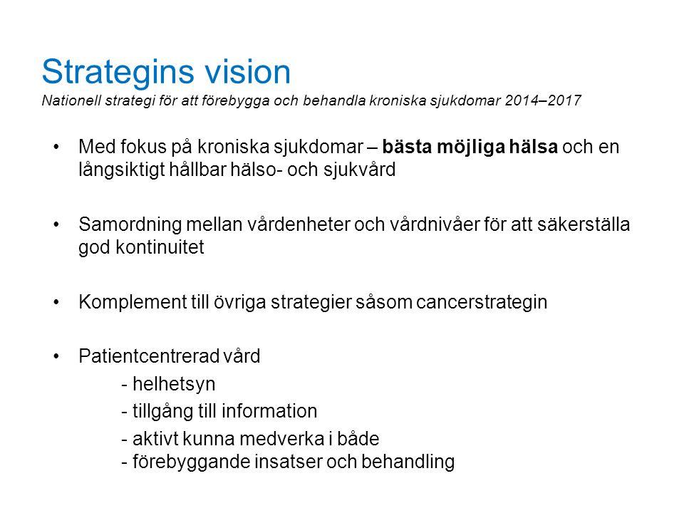 Strategins vision Nationell strategi för att förebygga och behandla kroniska sjukdomar 2014–2017