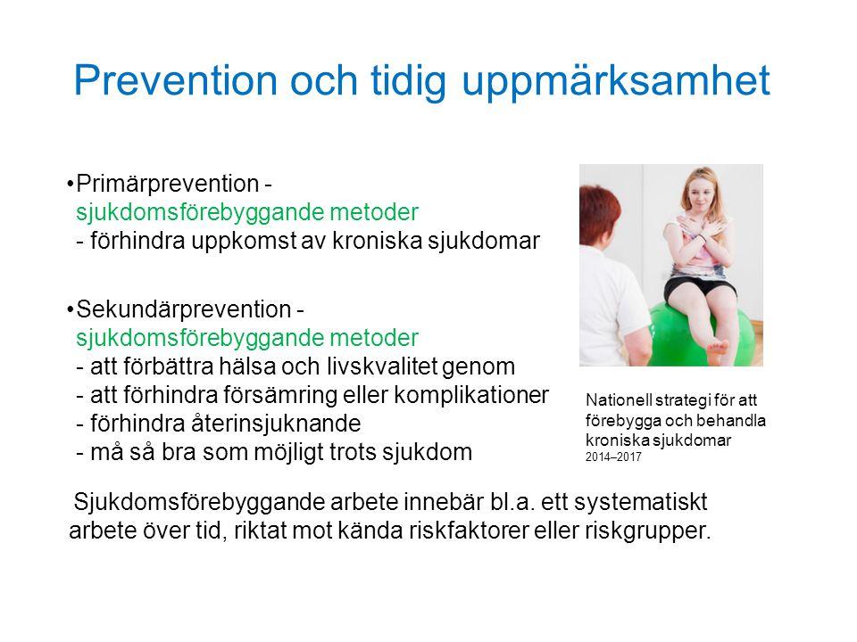 Prevention och tidig uppmärksamhet