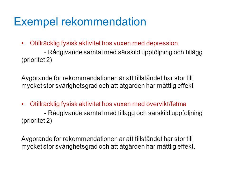 Exempel rekommendation