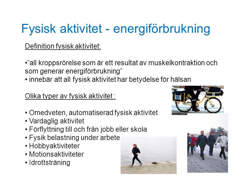Fysisk aktivitet - energiförbrukning