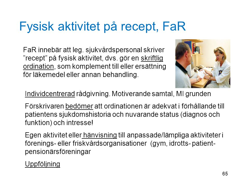 Fysisk aktivitet på recept, FaR