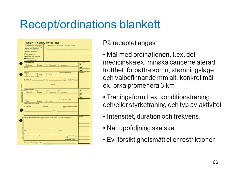 Recept/ordinations blankett