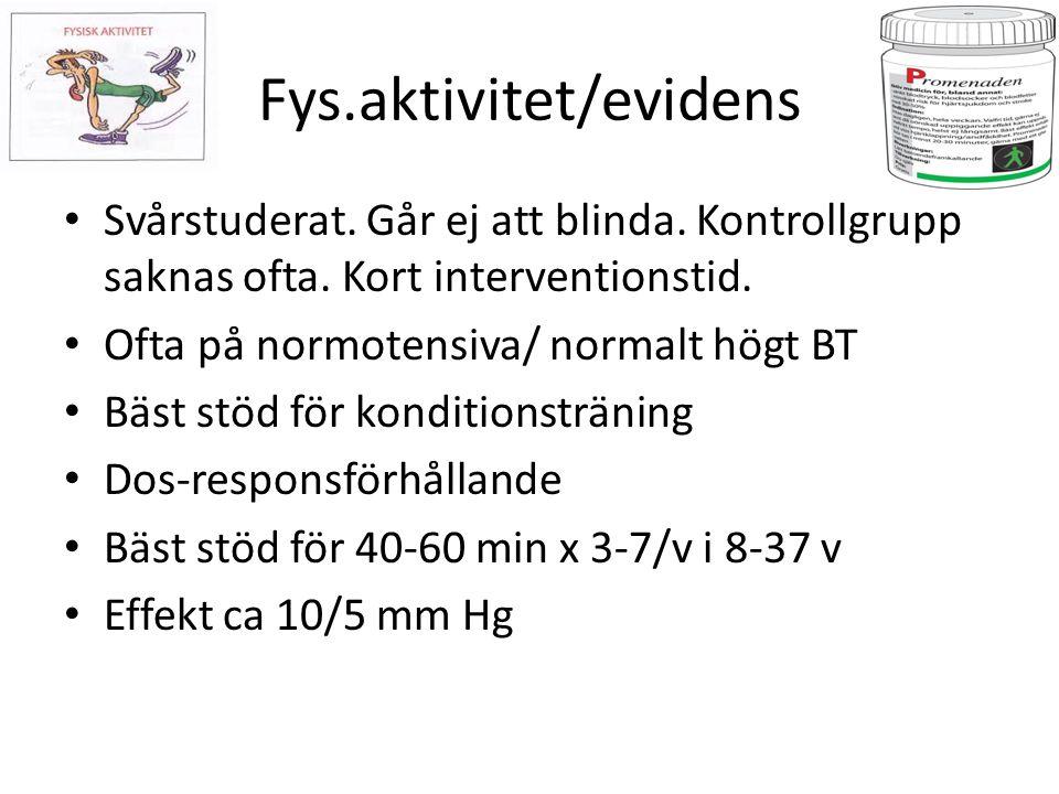 Fys.aktivitet/evidens