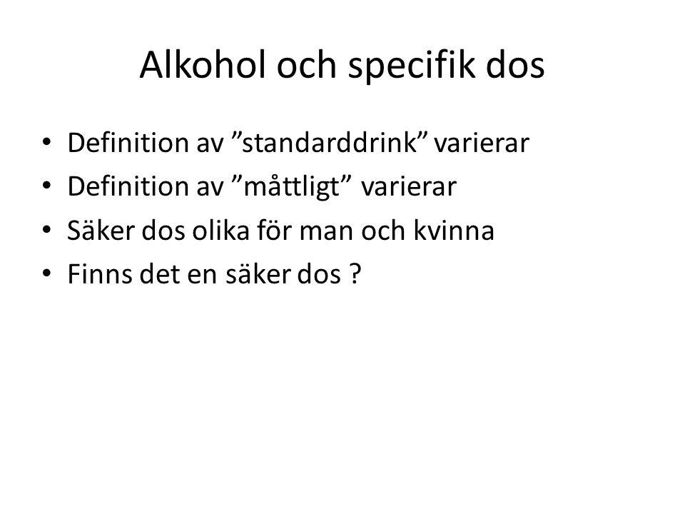 Alkohol och specifik dos
