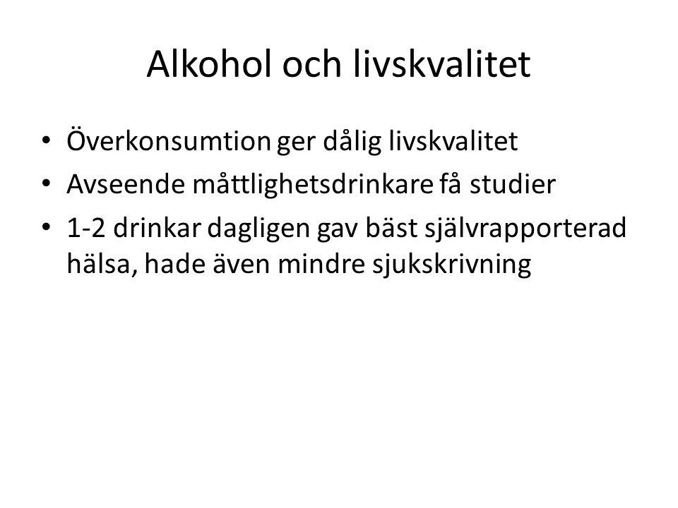 Alkohol och livskvalitet