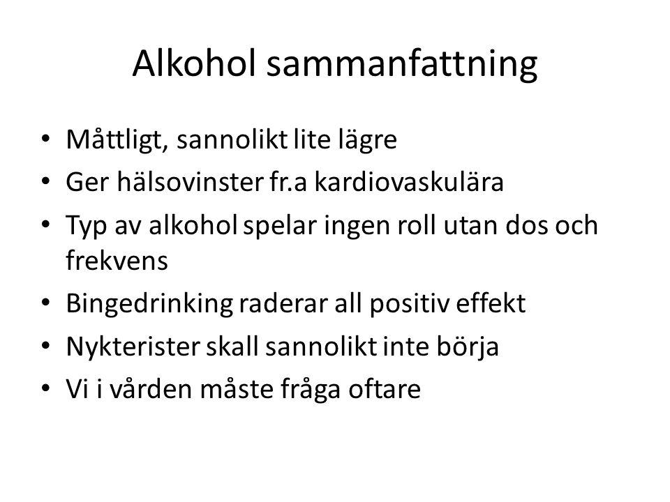 Alkohol sammanfattning