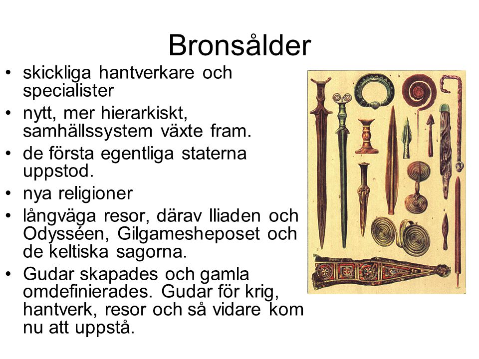 Bronsålder skickliga hantverkare och specialister