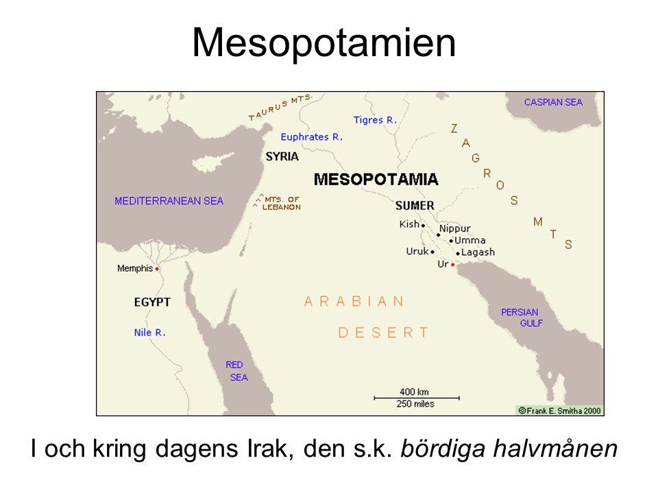 Mesopotamien I och kring dagens Irak, den s.k. bördiga halvmånen