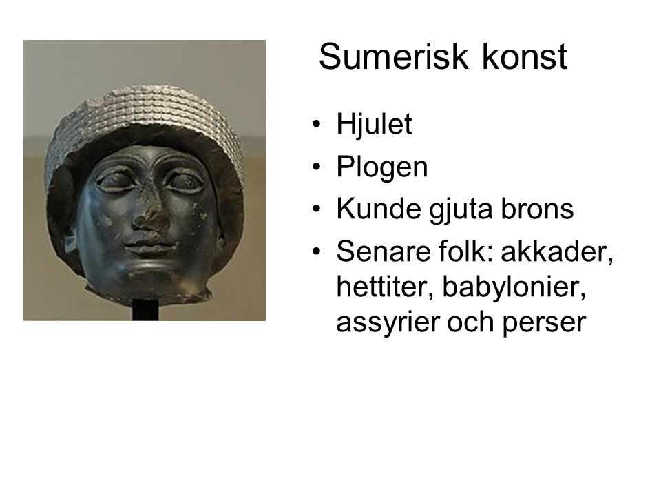 Sumerisk konst Hjulet Plogen Kunde gjuta brons