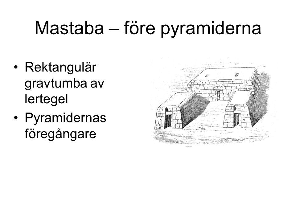 Mastaba – före pyramiderna
