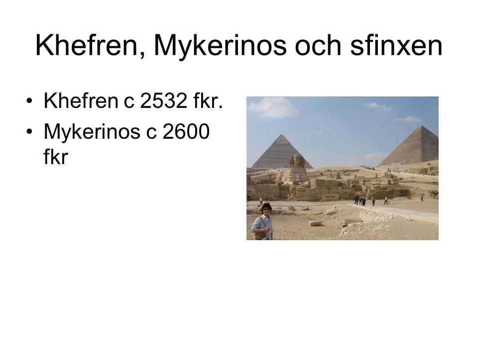Khefren, Mykerinos och sfinxen