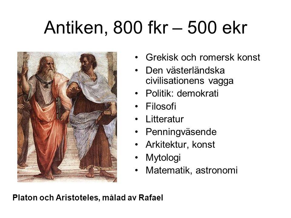 Antiken, 800 fkr – 500 ekr Grekisk och romersk konst