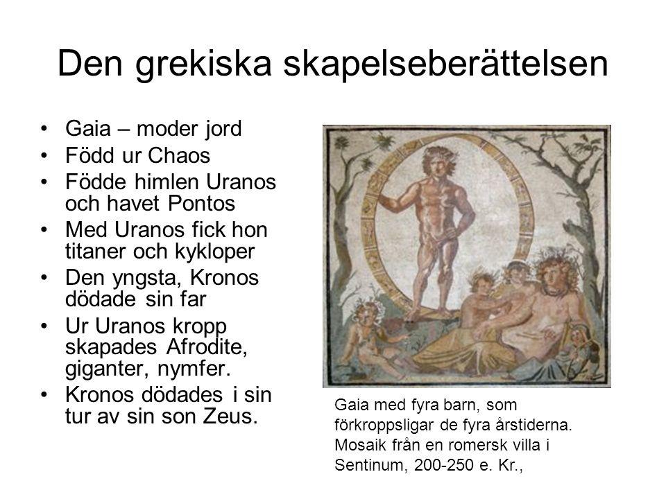 Den grekiska skapelseberättelsen