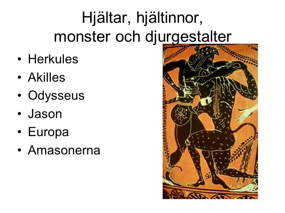 Hjältar, hjältinnor, monster och djurgestalter