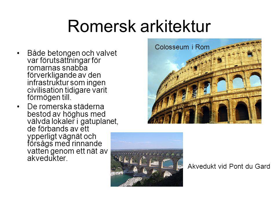 Romersk arkitektur Colosseum i Rom.