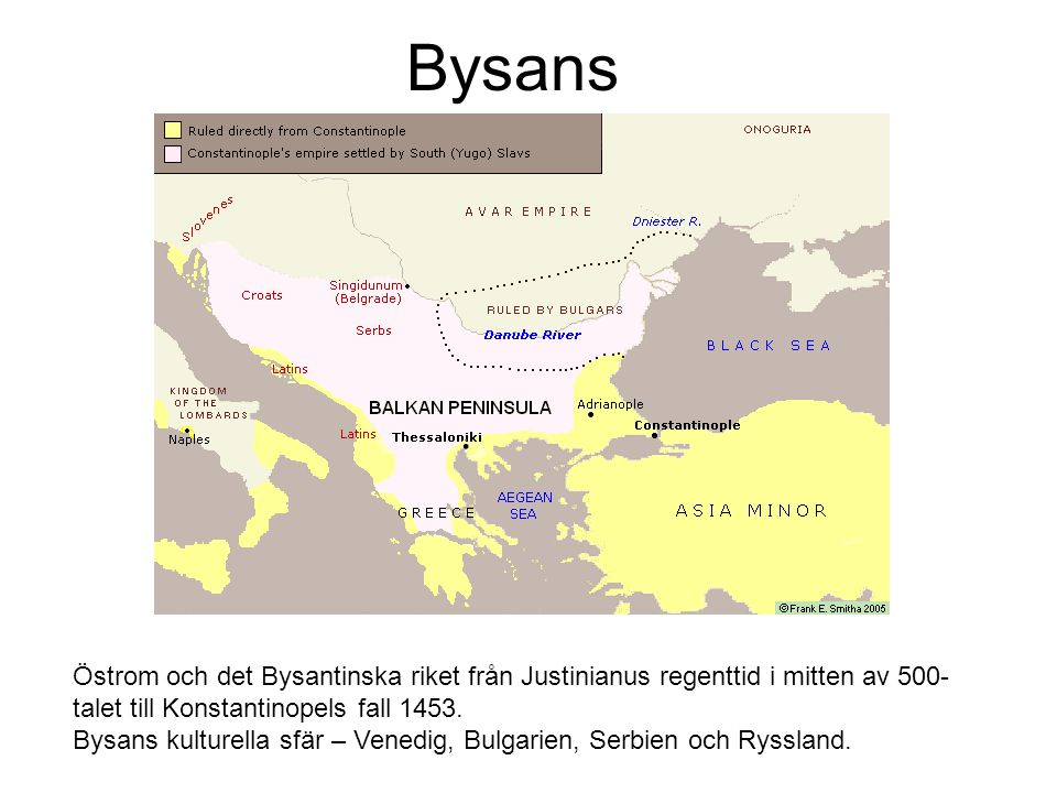 Bysans Östrom och det Bysantinska riket från Justinianus regenttid i mitten av 500-talet till Konstantinopels fall 1453.
