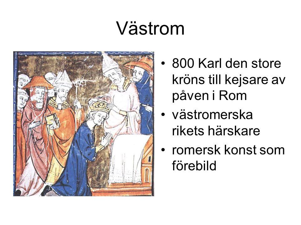 Västrom 800 Karl den store kröns till kejsare av påven i Rom