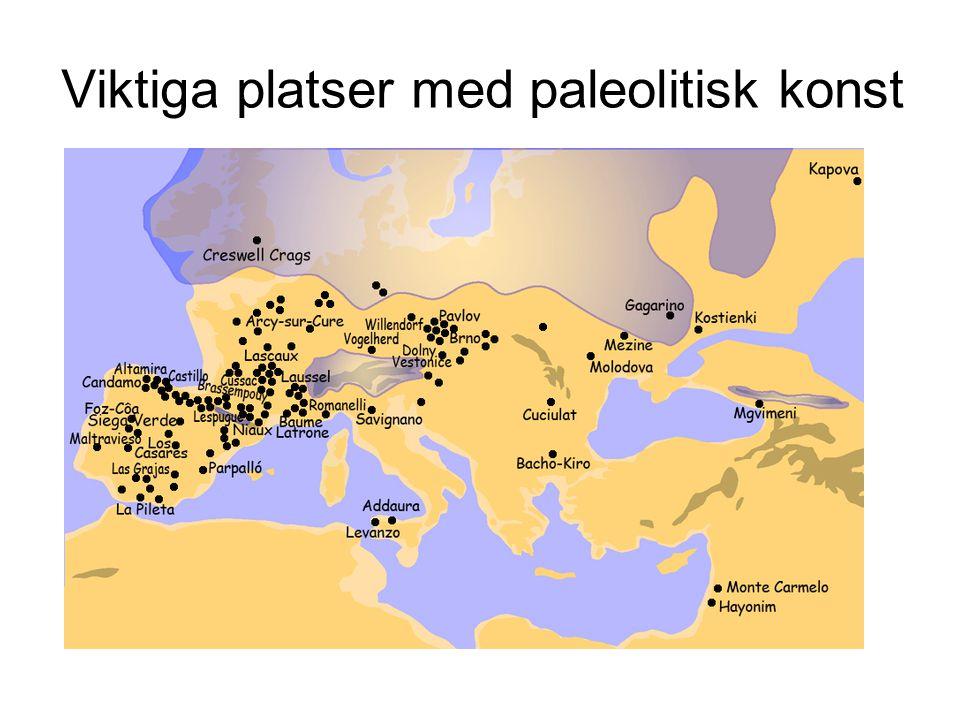 Viktiga platser med paleolitisk konst