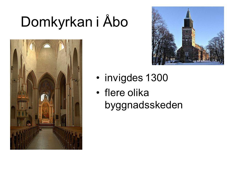 Domkyrkan i Åbo invigdes 1300 flere olika byggnadsskeden