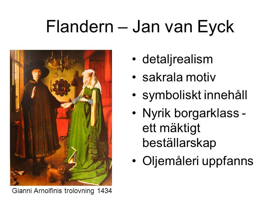 Flandern – Jan van Eyck detaljrealism sakrala motiv