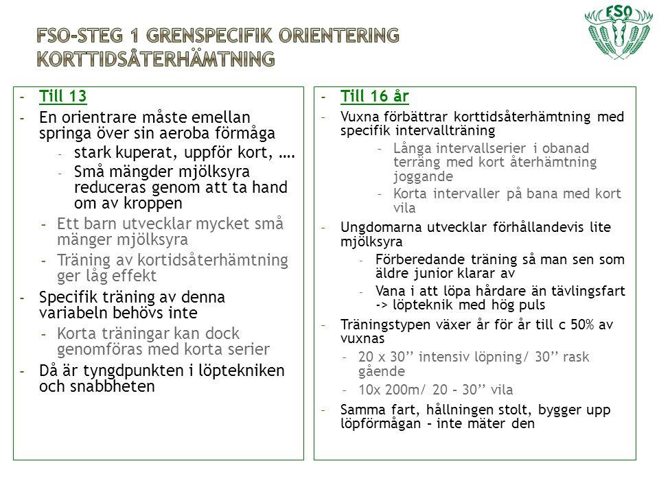 FSO-Steg 1 grenspecifik orientering Korttidsåterhämtning